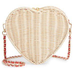 NTW Ted Baker Heart Wicker Crossbody Bag Purse